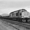 37151 waits at Kingussie to take the single line south to Perth<br /> <br /> April 1986