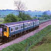 Prototype DEMU Class 210 210002 heads up the Berks and Hants at  Little Bedwyn