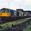 58027 / 58043 lead this line up of locos at Saltley