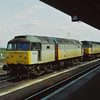 Class 47 at Didcot<br /> 47292 and 47285 stand next to the station waiting for their next turn of duty