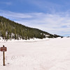 Not much lake - but still a lot of snow!<br /> <br /> Rocky Mountain National Park