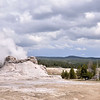 Castle Geyser in the Upper geyser basin<br /> Yellowstone National Park