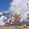 Wall mural celebrating the mining industry Ely, Nevada
