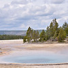 Celestine Pool: The water in this pretty pool is usually within a few degrees of boiling. Lower Geyser Basin  Yellowstone National Park