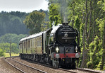 60163 ' Tornado'  is at the head of 1Y82 The Belmond British Pullman luncheon train as it passes Shere in the Surrey Hills working its circular tour from  London Victoria  16 June 2017