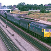 47612 Titan passes Acton yard with an Up van train