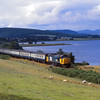 37419 rounds Dornoch Firth near Ardgay with the 12.00 Wick - Inverness<br /> <br /> 3pm  <br /> 4 August 1986