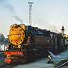 99 7234-0 gets the last rays of the setting sun as it draws back into the shed at Wernigerode