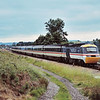 Trailing HST power car 43009 gets the feather into Standish Junction and the line up the Golden Valley towards Stroud