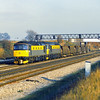 33035 + 33047 'Spitfire' with a short engineers train at Milley Bridge