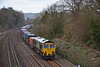 66502 approaches Tilehurst with 4O54 freightliner from Leeds - Southampton Maritime<br /> <br /> 4 March 2014