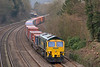 66502 has charge of 4O54 06.15 Leeds  to Southampton Maritime.<br /> Seen here rounding the curve into Tilehurst.<br /> <br /> 5 March 2014